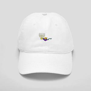 menorah and bible happy Chanukkah Baseball Cap