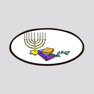 menorah and bible happy Chanukkah Patches