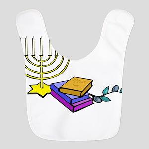 menorah and bible happy Chanukkah Bib