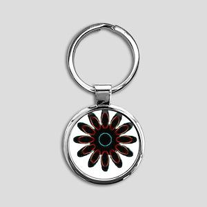 sun-flower Round Keychain