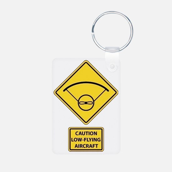 Caution Low Flying Aircraf Keychains