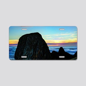 Seal Rock Sunset Aluminum License Plate