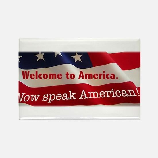 Unique Speak english Rectangle Magnet