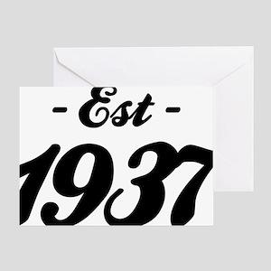 Established 1937 - Birthday Greeting Card