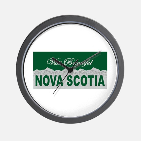 Visit Beautiful Nova Scotia Wall Clock