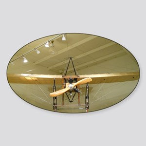 Scary Flying 1909 Plane Sticker (Oval)