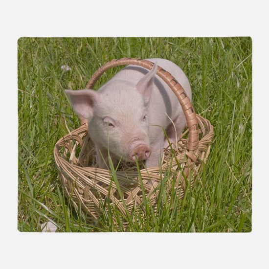 Small Pig Throw Blanket