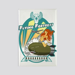Flying Fortress Rectangle Magnet