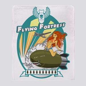 Flying Fortress Throw Blanket