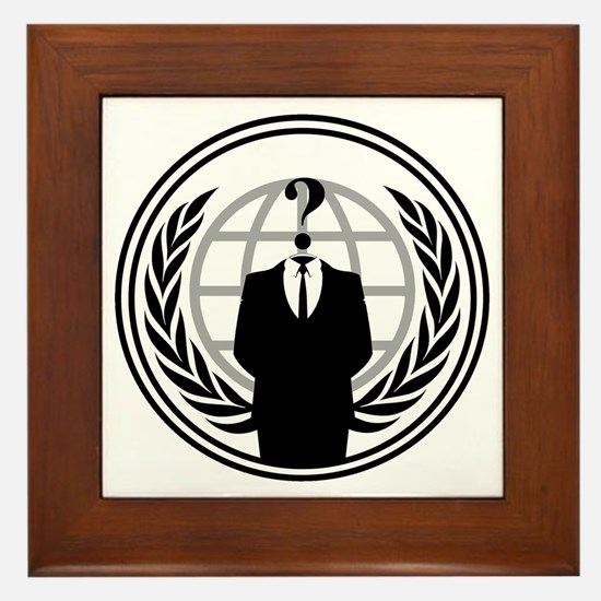 Anonymous Logo Framed Tile