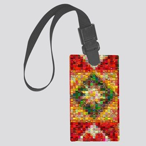 Triangle Patchwork ... Large Luggage Tag