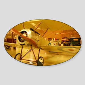 1916 Pup Plane Sticker (Oval)