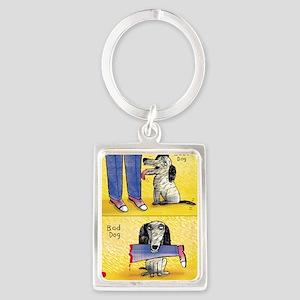 Good Dog, Bad Dog Portrait Keychain
