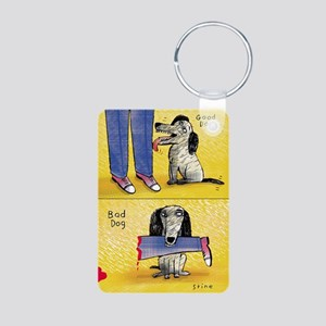 Good Dog, Bad Dog Aluminum Photo Keychain
