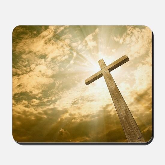 Stock Photo: cross against the sky Mousepad