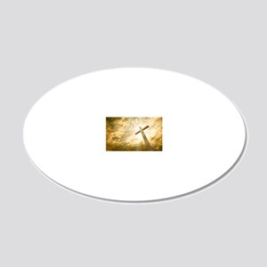 Stock Photo: cross against t 20x12 Oval Wall Decal