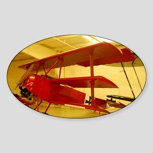 1917 Vintage Airplane Sticker (Oval)