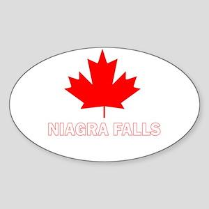 Niagra Falls Oval Sticker