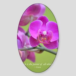 Purple Orchid Sticker (Oval)