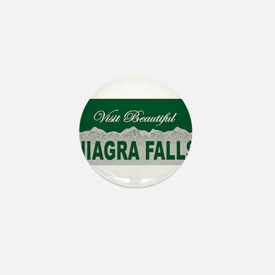 Visit Beautiful Niagra Falls Mini Button