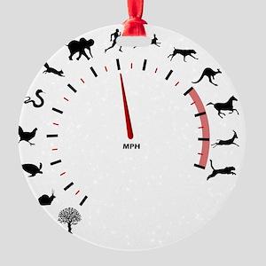 animal speed Round Ornament