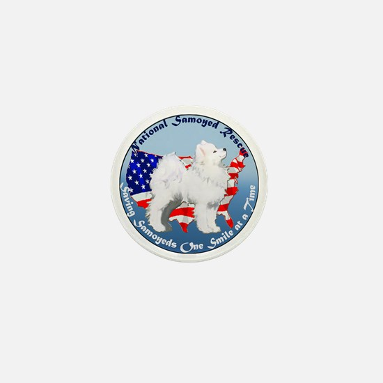 National Samoyed Rescue Mini Button