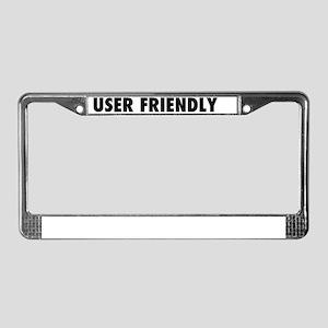 User Friendly License Plate Frame