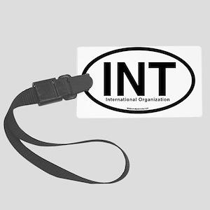 INT - International Organization Large Luggage Tag