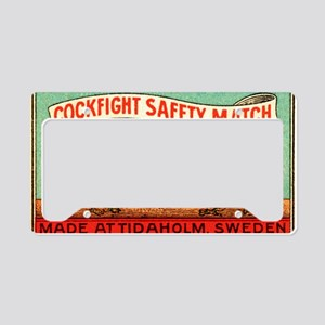 Antique Swedish Cockfight Mat License Plate Holder