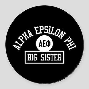 Alpha Epsilon Phi Big Sister Athl Round Car Magnet