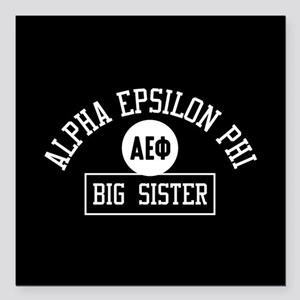 "Alpha Epsilon Phi Big Si Square Car Magnet 3"" x 3"""