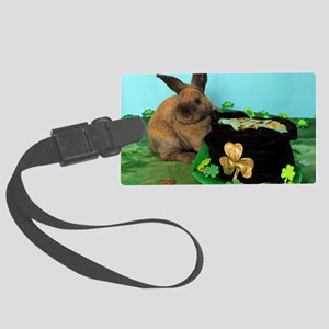 Buddy the Lucky Bunny Large Luggage Tag