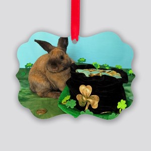 Buddy the Lucky Bunny Picture Ornament