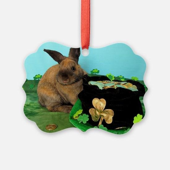 Buddy the Lucky Bunny Ornament