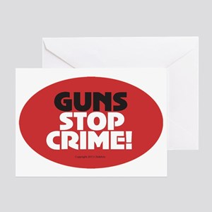 OTG 24 Guns Stop Crime Sticker Greeting Card