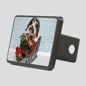 Dudley in Winter Sleigh Rectangular Hitch Cover