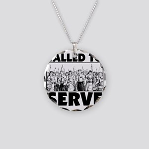 Called To Serve Necklace Circle Charm