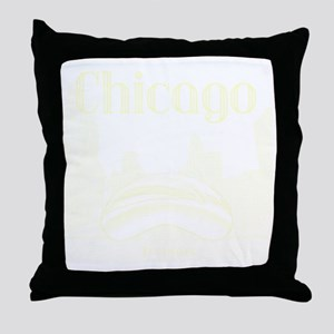 Chicago_10x10_ChicagoBeanSkylineV1_Cr Throw Pillow