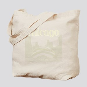 Chicago_10x10_ChicagoBeanSkylineV1_Cream Tote Bag