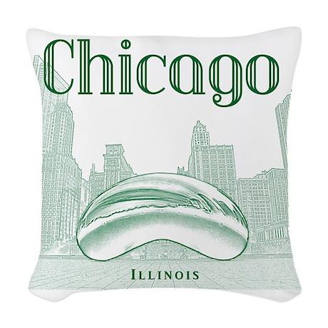 Chicago_10x10_ChicagoBeanSkyli Woven Throw Pillow