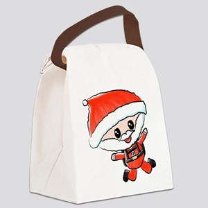 Skydiving Santa Canvas Lunch Bag