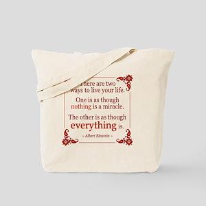 Einstein on Miracles Tote Bag