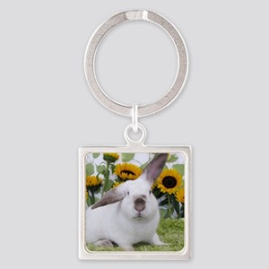 Presto with Sunflowers-1 Square Keychain