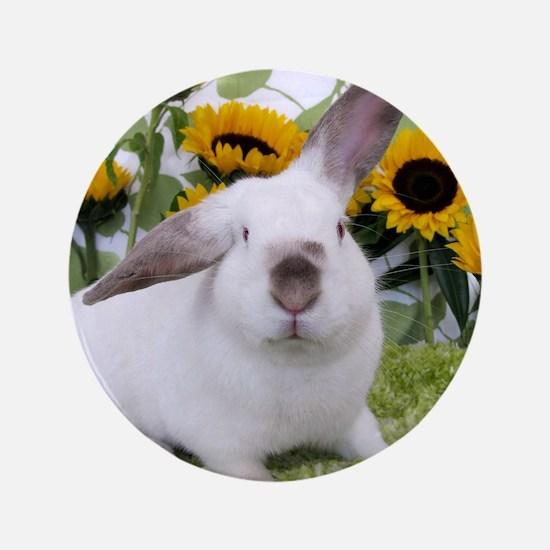 "Presto with Sunflowers-1 3.5"" Button"