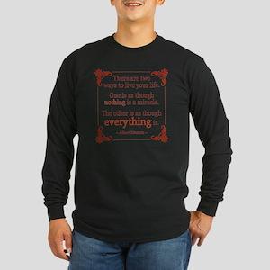 Einstein on Miracles Long Sleeve Dark T-Shirt