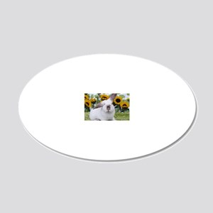 Presto with Sunflowers-1 20x12 Oval Wall Decal