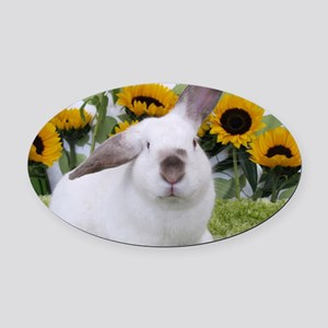 Presto with Sunflowers-1 Oval Car Magnet
