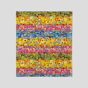 Spring Flower Patch... Throw Blanket