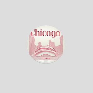 Chicago_10x10_ChicagoBeanSkylineV1_Red Mini Button