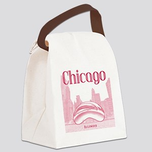 Chicago_10x10_ChicagoBeanSkylineV Canvas Lunch Bag